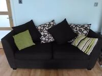 Brown three seater sofa. Excellent condition. COLLECTION ONLY