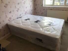 Brand new (never used) double divan bed and mattress