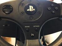Ps4 thrust master steering wheel and stand