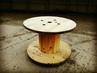 Cable reel outdoor table patio set