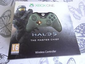 HALO 5 MASTER CHIEF LIMITED EDITION XBOX ONE CONTROLLER NEW& SEALED / PAY PAL / FREE POSTAGE.