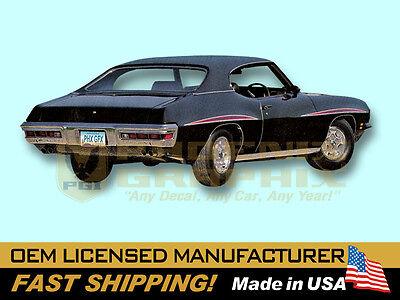 1971 Pontiac Lemans Gt37 Gto D98 Eyebrow Decals   Stripes Kit
