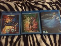 Disney blu ray bundle inc Cinderella beauty and the beast and the jungle book