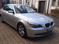 Silver , BMW 525d ( 2008 ), Automatic, grey leather seats, long M.o.t , excellent condition ,