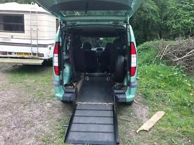 Fiat dablo wheelchair access disabled mobility wav motability accessible
