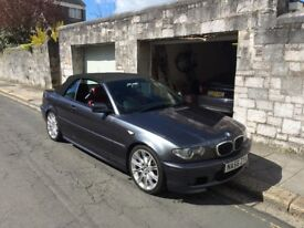 Stunning example ! BMW 320 E46cabriolet, low mileage , mot 06/18, drives superb looks even better !