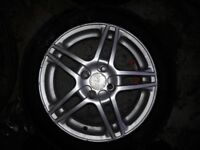4x108 15inch aftermarket alloys with wheel spacers and 4 brand new tyres