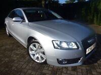 2011 AUDI A5 SE TDI CVT SILVER LOW MILEAGE BLACK LEATHER SAT/NAV AUTO DIESEL