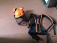 Stihl strimmer harness & stihl saftey hat
