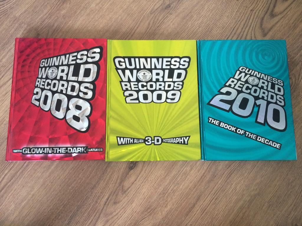 3 X Guinness world records books