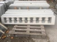 Gravel boards / fancy Concrete fence topper / Concrete fencing