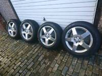 Mercedes 19 inch genuine AMG Alloy wheels with new pirelli tyres