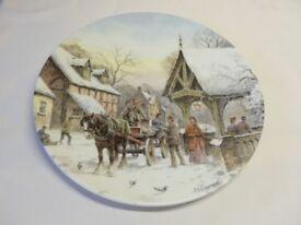 Royal Doulton decorative plates: A Christmas Village series