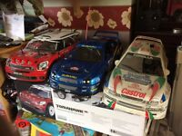 RC nitro 1/8 scale cars x3 all vgc and rtr & one for spares