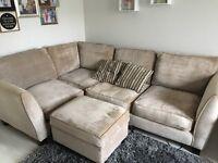 Sofology 4 Seat Corner Sofa & Footstool £400 ONO