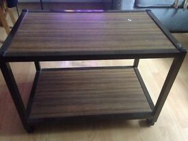 Wheeled tv stand or caddy / small table with casters