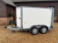 Ifor Williams Twin axle, box trailer for hire 2700kg load Wilberfoss, E,Yorks