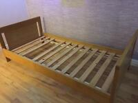 Solid pine wood single bed frame -dismantled for ease of transport