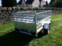 NEW Car trailer 7.7 x 4.1 with mesh and ramp £1020 inc vat