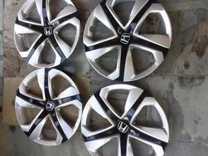 BRAND NEW TAKE OFF 2016 FACTORY OEM HONDA CIVIC 16 INCH WHEEL COVER SET OF FOUR.