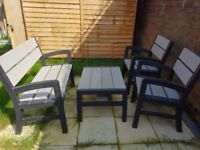 Keter tuscany wood effect lounge set