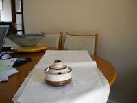 Denby Potters Wheel sugar / jam bowl vgc