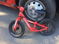 """Red Specialized Hotwalk Balance Bike 12"""" - Great condition"""