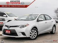 2014 Toyota Corolla LE- ONLY 33518 KMS!!
