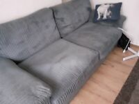Grey sofa chunky cord 16 months old