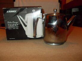 Sunnex stainless steel 1.5 litre/48 oz teapot