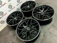 """BRAND NEW MERCEDES 22"""" AMG STYLE ALLOY WHEELS - AVAILABLE WITH TYRES - 5 X 112- SATIN BLACK - 7S6"""