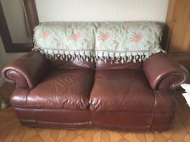 Leather sofa brown excellent condition