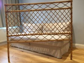 Vintage Bamboo Double Bed Headboard