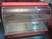 Hot Food Warmer Display Cabinet Counter Electric Pie Pasty, Samosa, 95cm