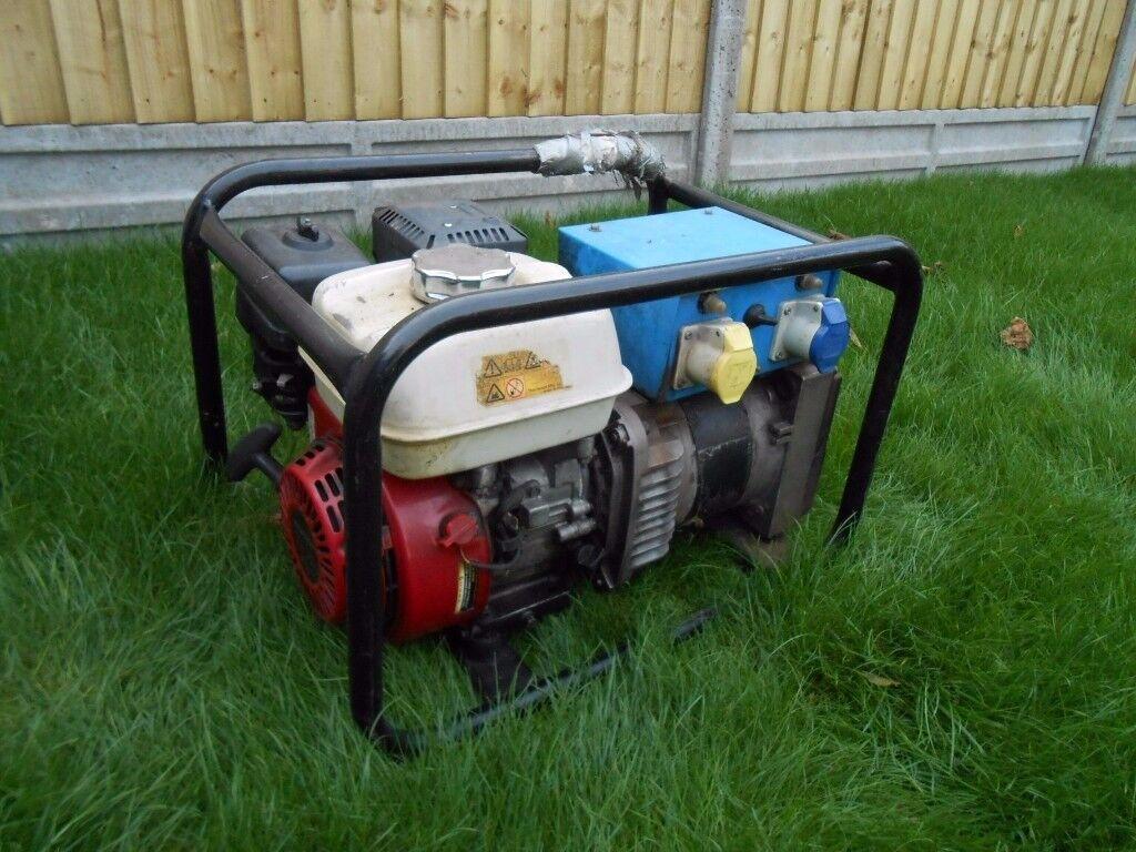 honda GX200 generator 3.5KVA 240v /110v 16A
