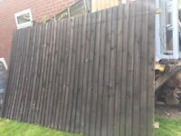 2 fence Width 113inch x 72 inch height