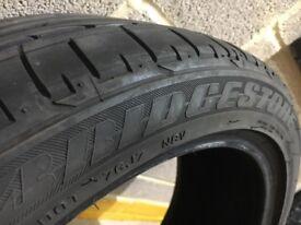225 45 18 Bridgestone run flat tyre