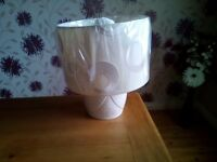Belleek swirl lamp and shade(unwanted gift)