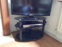TV table - TV Stand (Black Glass)