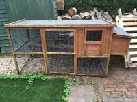 Chicken coop 220x90x105 needs a coat of wood protector, can include feeders, not used for 18 months