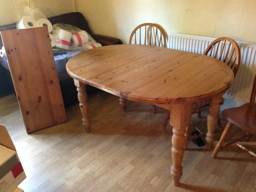 Solid Pine Oval Extending Kitchen Dining Table With  : 86 from gumtree.com size 1024 x 768 jpeg 83kB