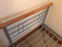 2 X used single bed frames with or without mattresses