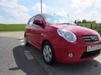 KIA PICANTO 1.1 RED 5d 64 BHP 6 Month RAC Parts & Labour Warranty MOT Feb 2017 Only £30 Road Tax