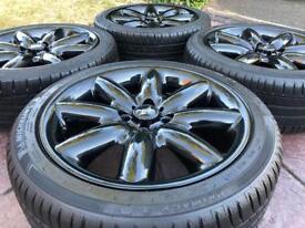 "Genuine 17"" BMW Mini Cooper Crown 8 Spoke Refurbished Alloy wheel & tyres"