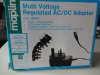 Multi Voltage Regulated AC/DC Adaptor Maplin + 8 power tips