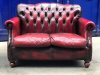 Immaculate 🤩 THOMAS LLOYD regency chesterfield Queen Anne wingback 2 seater sofa high back