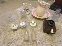 Job lot of vintage China, glass items