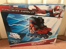 Roller Skates Age 8 Plus SpiderMan 2 Brand New ☆☆☆☆☆ CAN POST
