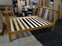 Solid Pine, antique pine finished, Rimini style king size bed frame, HUGE DISCOUNT just £50!
