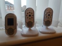Motorola Baby Monitor - Twin camera pack MBP28 with sounds, video, talk back facility, lullabies etc